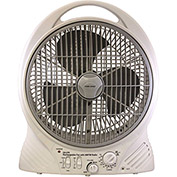 Gama Sonic 27101 Rechargeable 2-Speed Fan with Built-In Radio