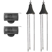Gama Sonic 6K201-5 Hanging Solar LED Spotlight, Black, Set of 2