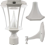 Gama Sonic 94233 Victorian Solar LED Outdoor Light, Post/Wall Mount, White