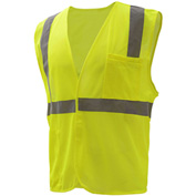 GSS Safety 3501 Class 2 FR Treated Hook & Loop Vest, Lime, Medium