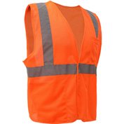 GSS Safety 3502 Class 2 FR Treated Hook & Loop Vest, Orange, Medium