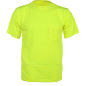 GSS Safety 5501 Moisture Wicking Short Sleeve Safety T-Shirt with Chest Pocket - Lime, 2XL
