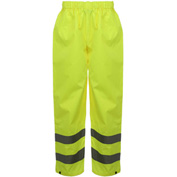 GSS Safety 6801 Class E Standard Waterproof Rain Pants, Lime, L/XL