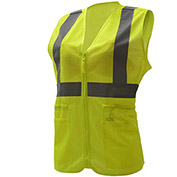 GSS Safety 7803, Class 2, Ladies Hi-Vis Safety Vest, Lime, S/M