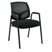 Offices To Go™ Mesh Back Guest Chair, Black