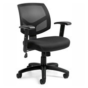 Offices To Go™ Mesh Back Managers Chair, Black