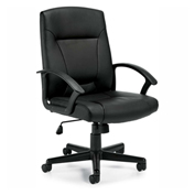 Offices To Go™ Luxhide Tilter Chair OTG11776B, Black