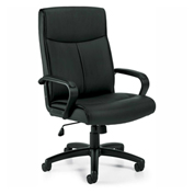 Global™ Offices To Go™ Luxhide Tilter Chair OTG11782B, Black