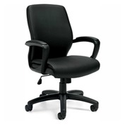 Global™ Offices To Go™ Luxhide Managerial Chair, Black