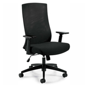 Global™ Offices To Go™ Mesh Back Executive Chair, Black