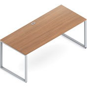 "Global™ Wood Desk with Metal Legs 30""D x 72""W x 29""H - Cherry - Princeton Series"