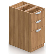 Offices To Go™ 3 Drawer Pedestal in Walnut - Executive Modular Furniture