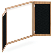 """Offices To Go™ - Visual Board Cabinet -  48"""" W x 48""""D - Walnut"""