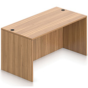 """Offices To Go™ Desk Shell - 60"""" x 30"""" - Walnut"""