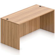 """Offices To Go™ Desk Shell - 66"""" x 30"""" - Walnut"""