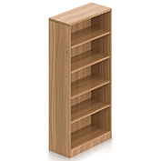 Offices To Go™ 4 Shelf Bookcase in Walnut - Executive Modular Furniture