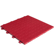 Block Tile B0US4330 Garage Flooring Interlocking Tiles, Coin Pattern, Red