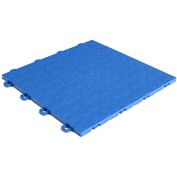 Block Tile B0US4530 Garage Flooring Interlocking Tiles, Coin Pattern, Royal Blue