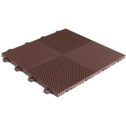Block Tile B2US5230 Multi-Purpose Drain Tiles, Perforated Pattern, Brown
