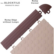 Block Tile R0US5212  Ramp Edges W/o Loops, PP Edges Pattern, Brown