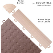 Block Tile R1US5112 Ramp Edges W/Loops, PP Edges Pattern, Beige
