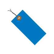 "#5 Wired Blue Tyvek Tag 4-3/4"" x 2-3/8"" - 100 Pack"