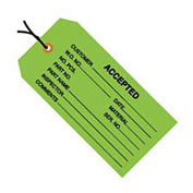 "#5 Strung Accepted Green 4-3/4"" x 2-3/8"" - 1000 Pack"
