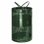 "Rubbermaid® H55E Towne Free Standing Receptacle, Green, 63 Gallon, 23""Dia x 36""H"