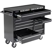 "Homak 41"" PRO SERIES 11 Drawer Rolling Cabinet - Black"