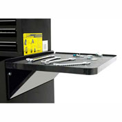 "Homak 27"" PROFESSIONAL Side Folding Shelf - Black"