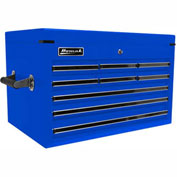 """Homak 27"""" PROFESSIONAL Black 9 Drawer Extended Top Chest - Blue"""