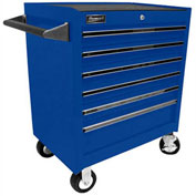 "Homak 27"" PROFESSIONAL 6 Drawer Rolling Cabinet- Blue"