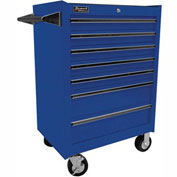 "Homak 27"" PROFESSIONAL 7 Drawer Rolling Cabinet - Blue"