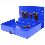"Homak 27"" PROFESSIONAL Locking Tool Organizer Blue"