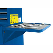 "Homak 27"" PROFESSIONAL Side Folding Shelf - Blue"