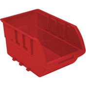 "Homak Single Small Plastic Individual Bin HA01010644 No Logo, 4-1/8""W x 6-1/2""D x 3""H, Red"