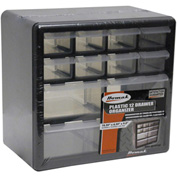 "Homak 12 Drawer Parts Organizer, 10-1/4""W x 6-1/4""D x 9-1/2""H"