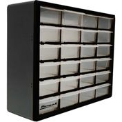 "Homak 24 Drawer Parts Organizer, 19-3/4""W x 6-1/4""D x 15-5/8""H"