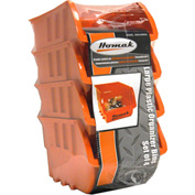 "Homak Large Plastic Bins HA01040954, 5-7/8""W x 9-3/8""D x 12-1/2""H, Orange, Set of 4"