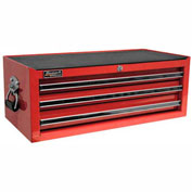 "Homak 27"" PROFESSIONAL Black 3 Drawer Mid Chest - Red"