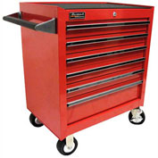 "Homak 27"" PROFESSIONAL 6 Drawer Rolling Cabinet- Red"