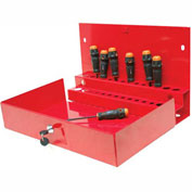 "Homak 27"" PROFESSIONAL Locking Tool Organizer Red"