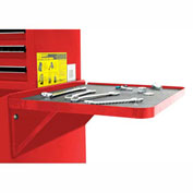 "Homak 27"" PROFESSIONAL Side Folding Shelf - Red"