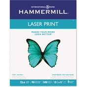 "Laser Copy Paper - Hammermill 104646 - 8-1/2"" x 11"" - 32 lbs. - 500 Sheets"