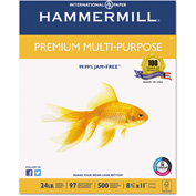 Multipurpose Paper - Hammermill HAM105810 - White - 8-1/2 x 11 - 24 lb. - 2500 Sheets/Carton