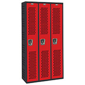 Hallowell AWA282-111 Gym/PE Locker Single Tier 36x18x72 Assembled