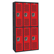 Hallowell AWA282-222 Gym/PE Locker Double Tier 36x18x36 Assembled