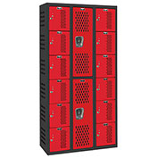 Hallowell AWA282-626 Gym/PE Locker Double Tier 36x18x36 Assembled