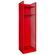 Hallowell TGNN42(84)-1BC-G-RR-HT Turnout Gear Locker 25x22x86 Assembled Relay Red - Hammertone