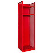 Hallowell TGNN42(84)-1C-G-RR-HT Turnout Gear Locker 25x22x84 Assembled Relay Red - Hammertone